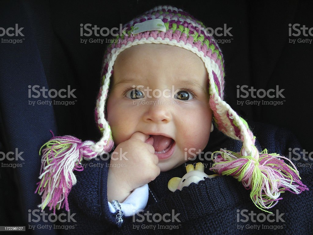 winter baby royalty-free stock photo