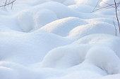 Winter background of shiny white snow