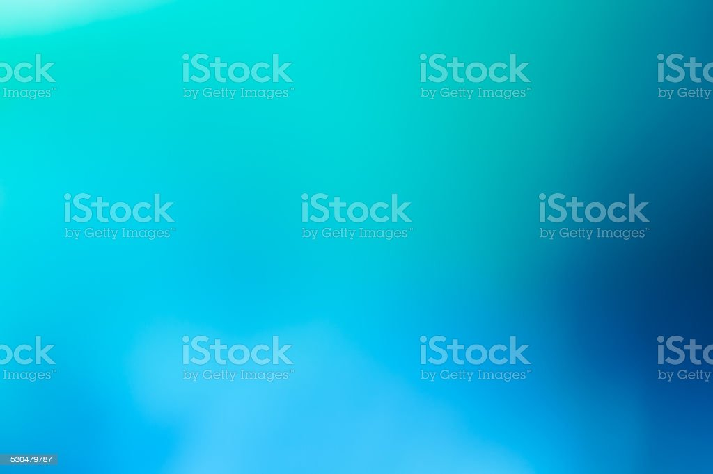 Winter Background - Soft dreamy bokeh gradient of  turquoise blue stock photo