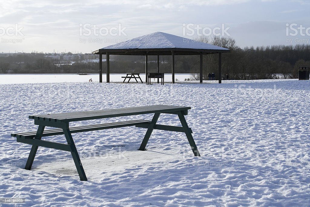 Winter Bandstand stock photo
