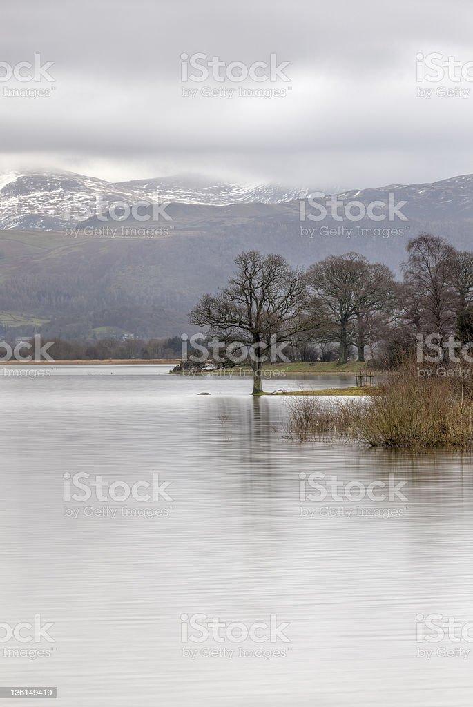 Winter Bassenthwaite stock photo
