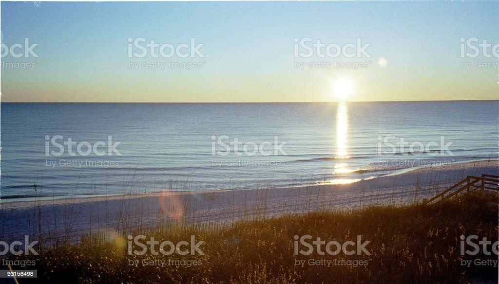 Winter Beach at Sunset 1 stock photo