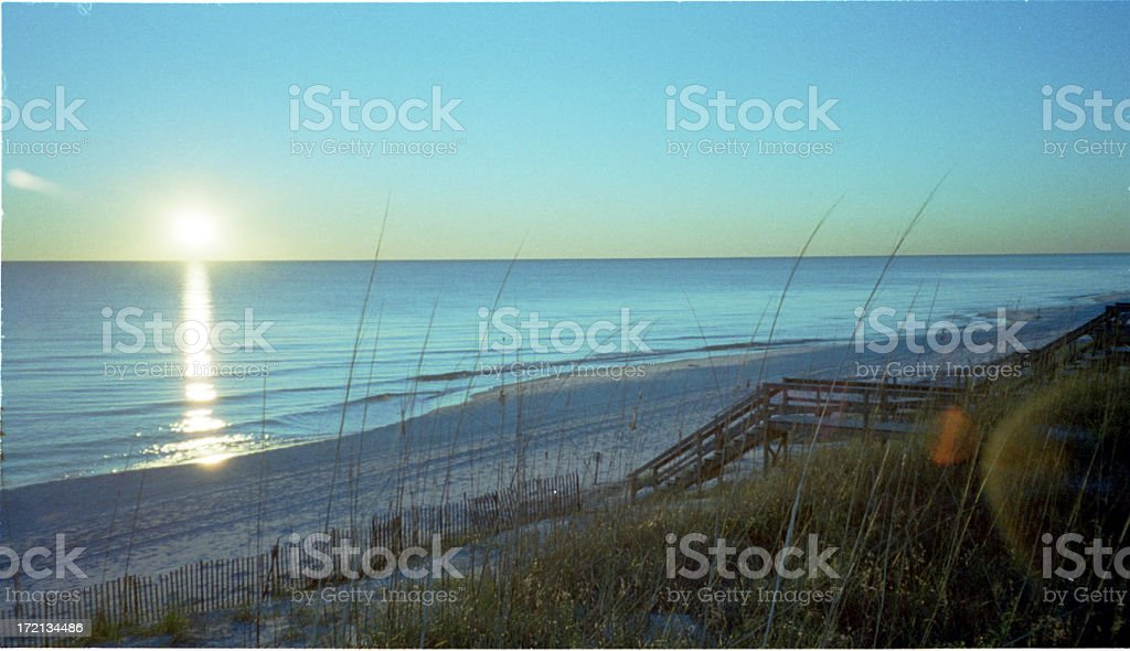 Winter Beach at Sunset 2 stock photo