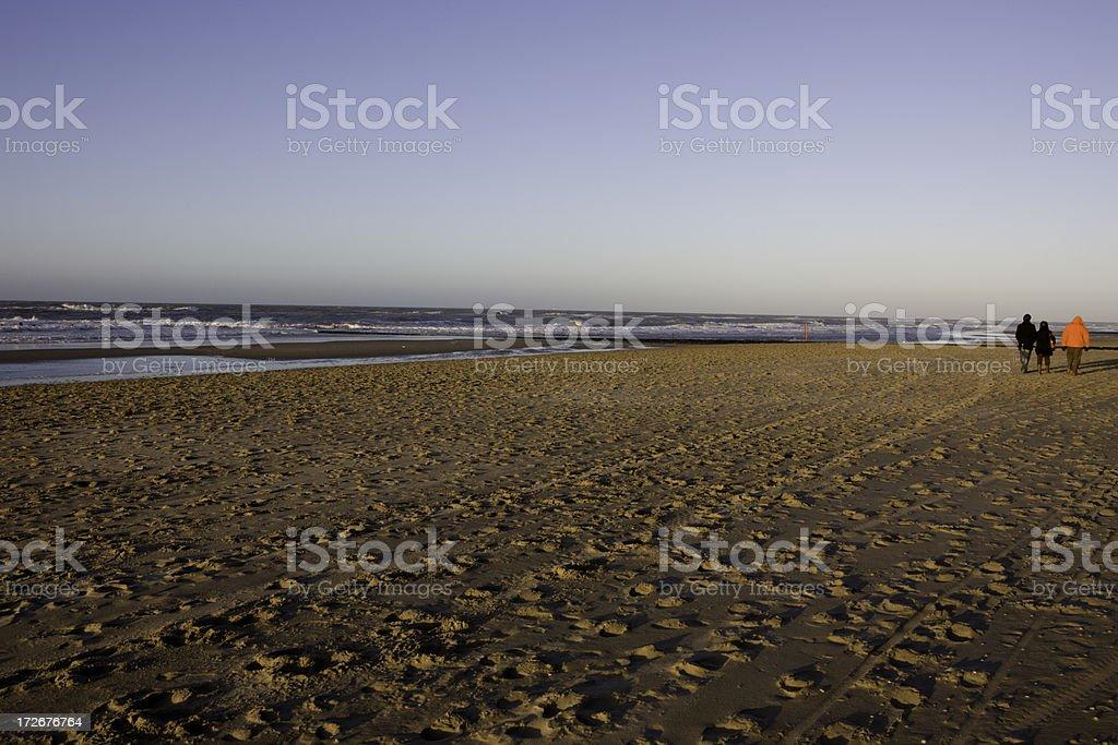 Winter Beach Walk royalty-free stock photo