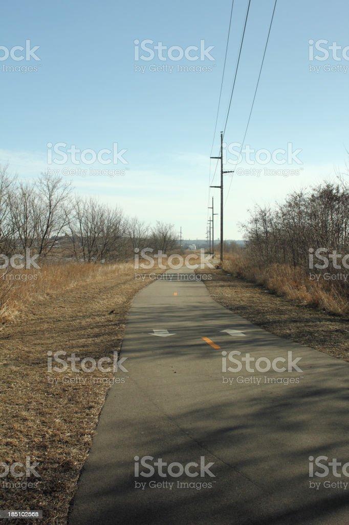 Winter Bike Trail stock photo