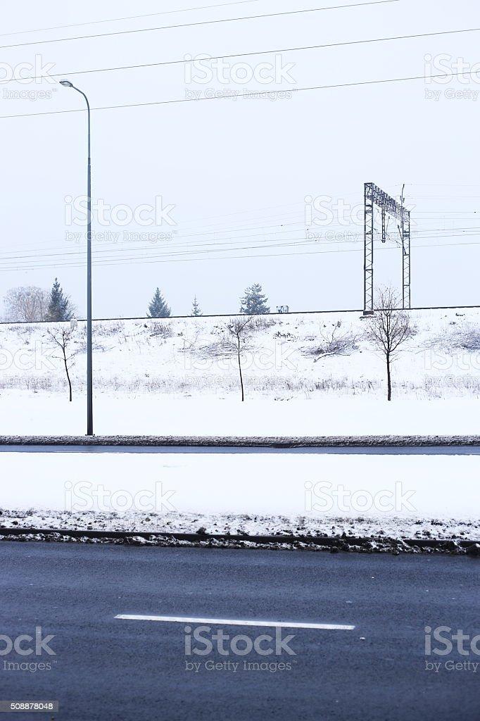 winter black road royalty-free stock photo