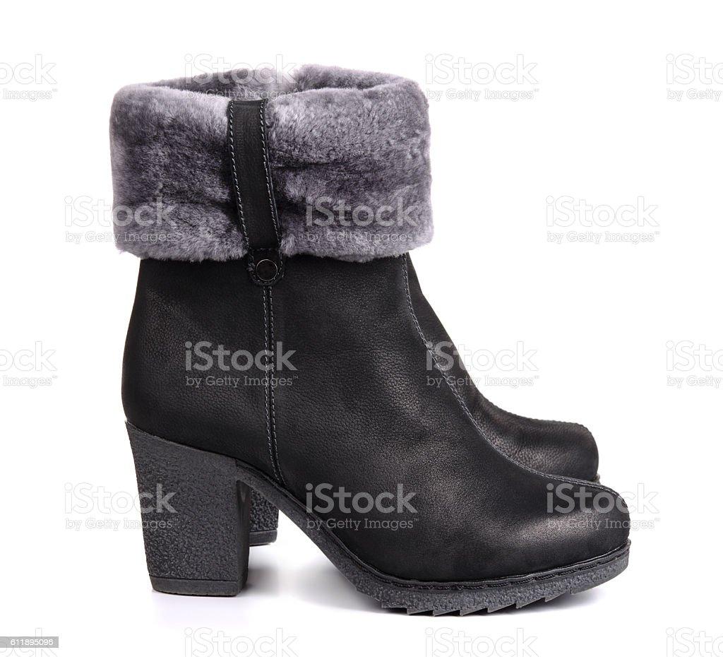 Winter boots stock photo