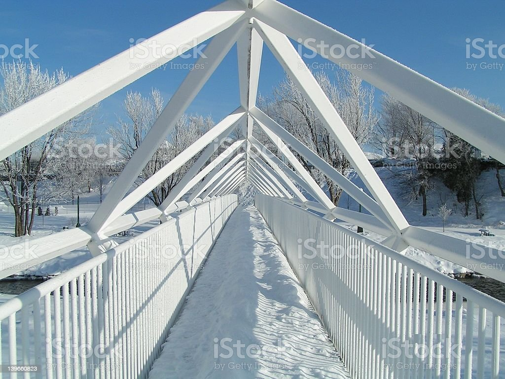 winter bridge royalty-free stock photo