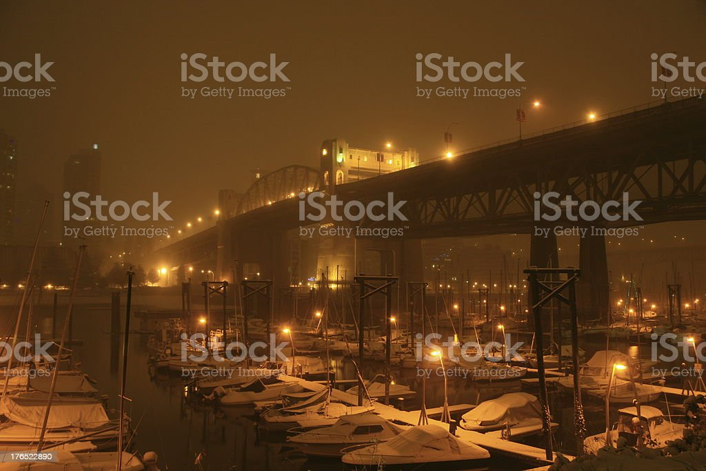 Winter Bridge royalty-free stock photo