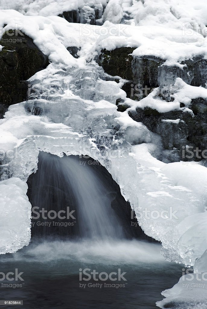 Winter brook royalty-free stock photo