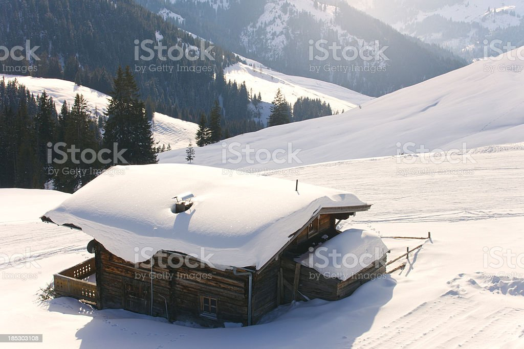 Winter Cabin royalty-free stock photo