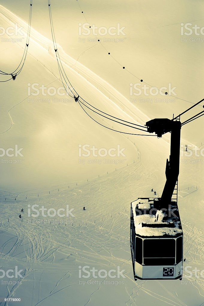 Winter Cable Car royalty-free stock photo