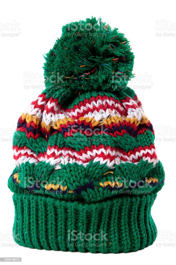 Winter cap for use on cold days stock photo