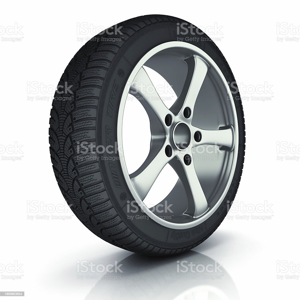 Winter car wheel royalty-free stock photo
