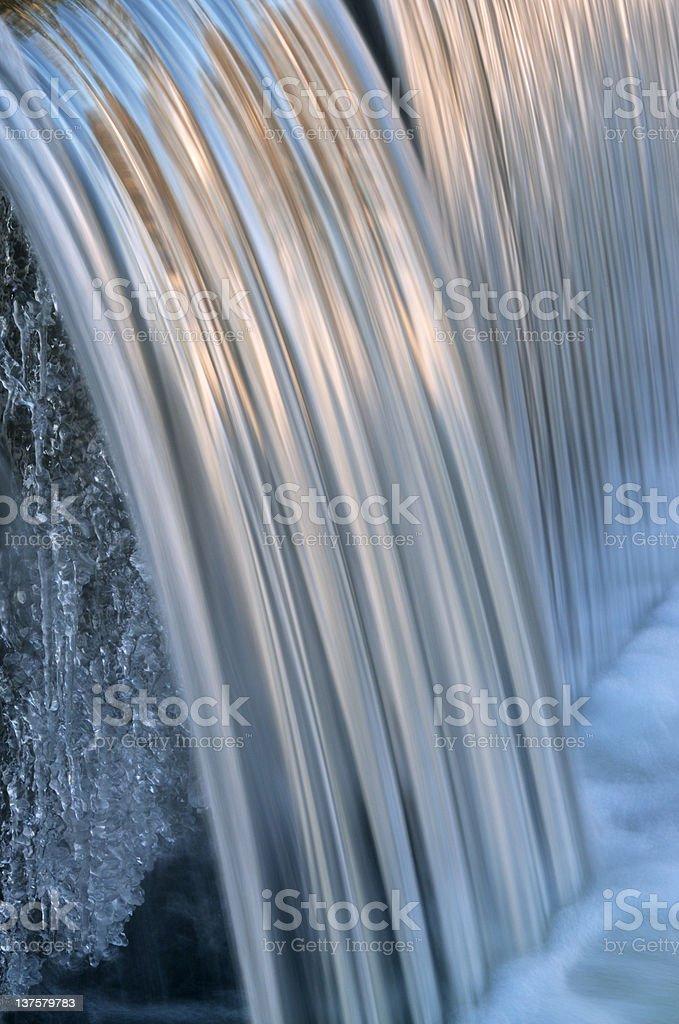 Winter Cascade royalty-free stock photo