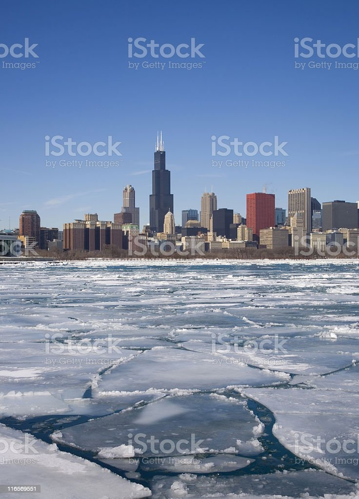 Winter Chicago Skyline royalty-free stock photo