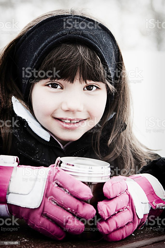 Winter Child stock photo