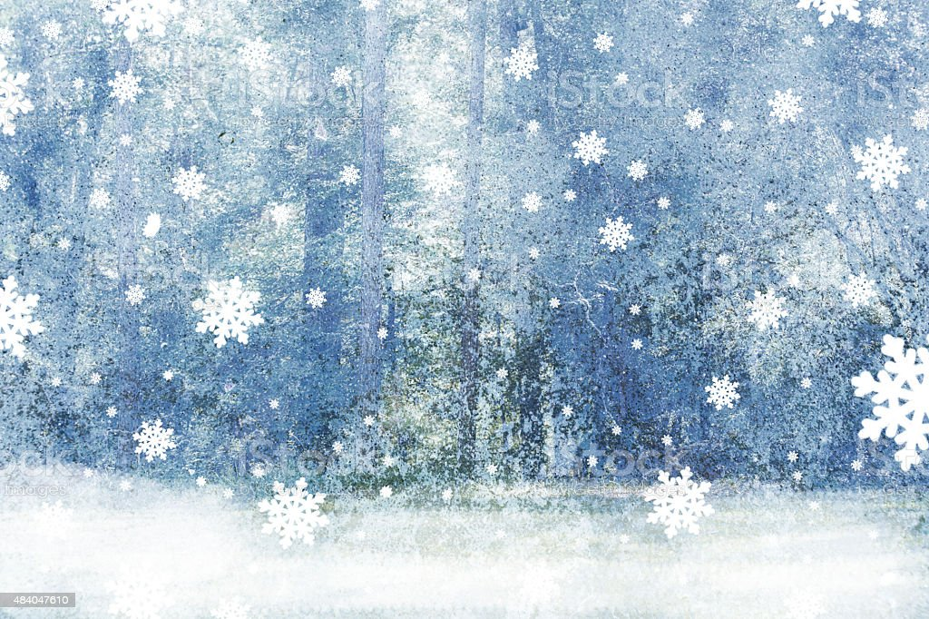Winter, Christmas abstract snowflake background. Blue, gray, white. stock photo