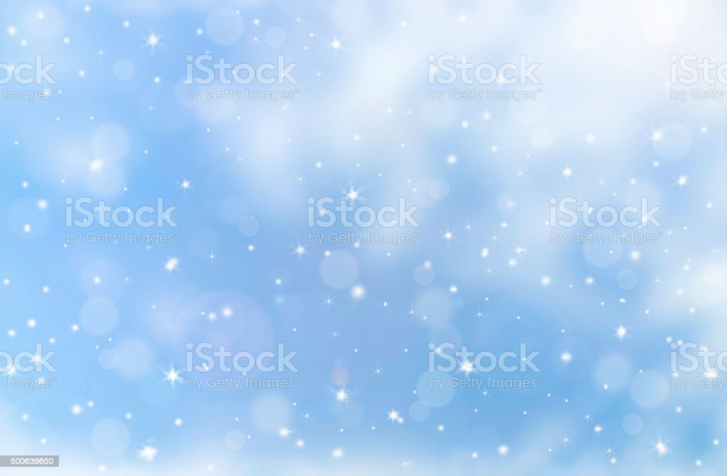 Winter christmas decorations and white bokeh background stock photo