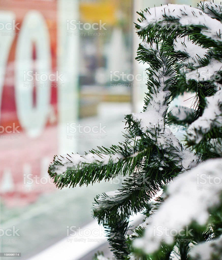 Winter Christmas Sale royalty-free stock photo