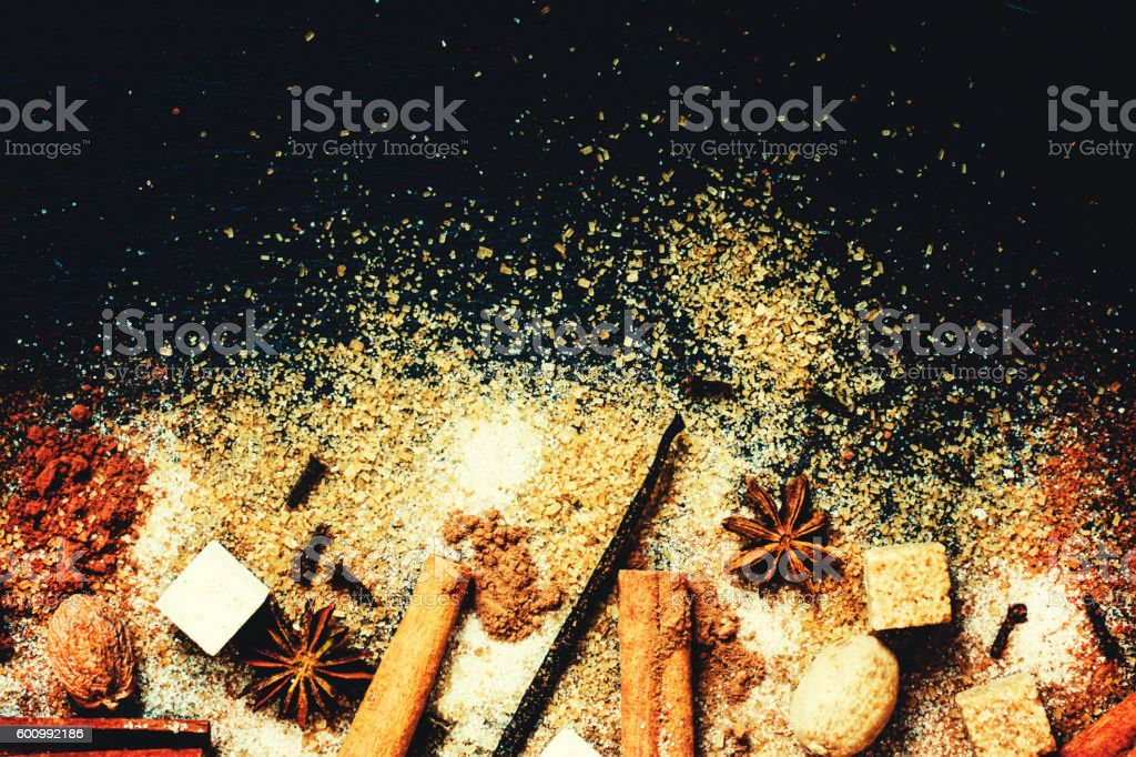 Winter Christmas spices stock photo