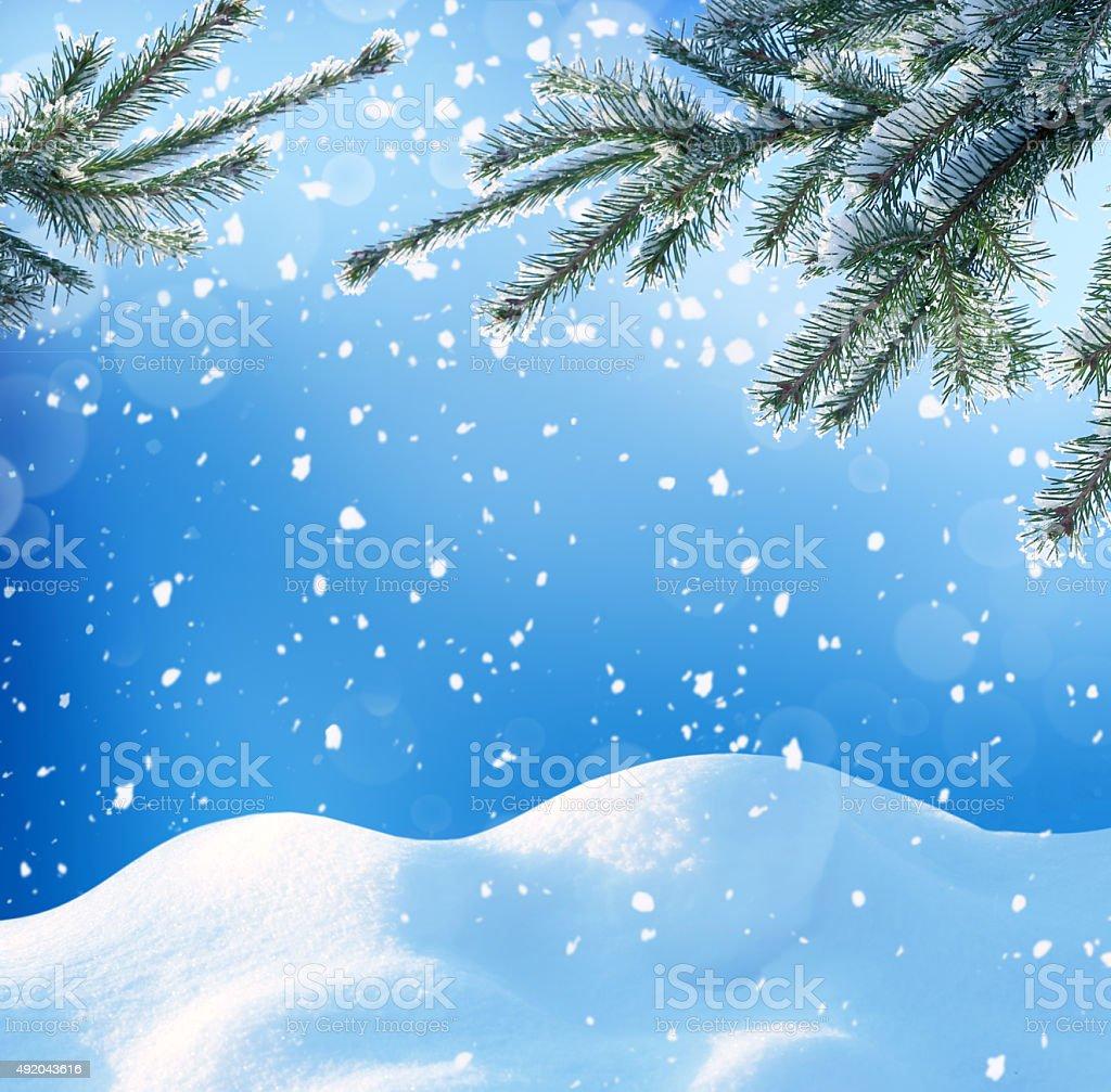 winter christmass background stock photo