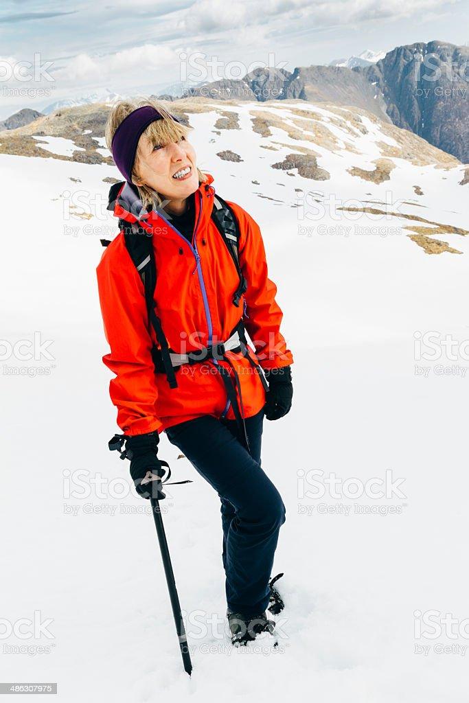 Winter climb royalty-free stock photo