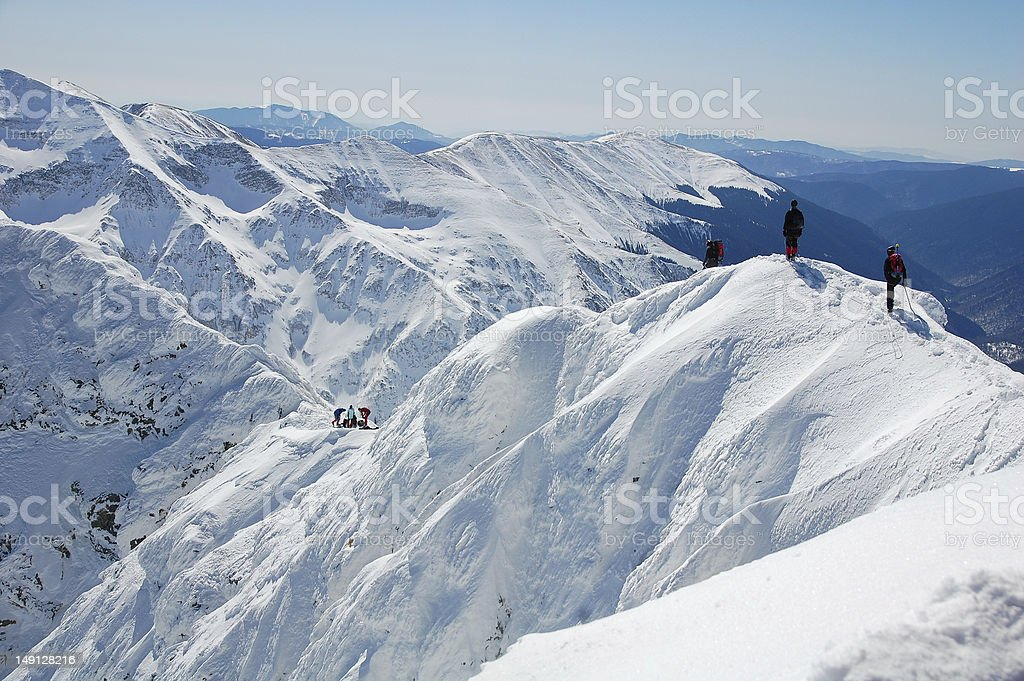 Winter climbing royalty-free stock photo