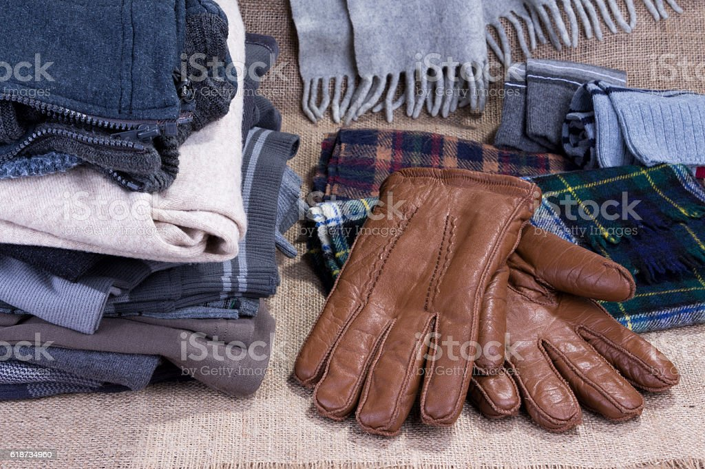 winter clothes stock photo