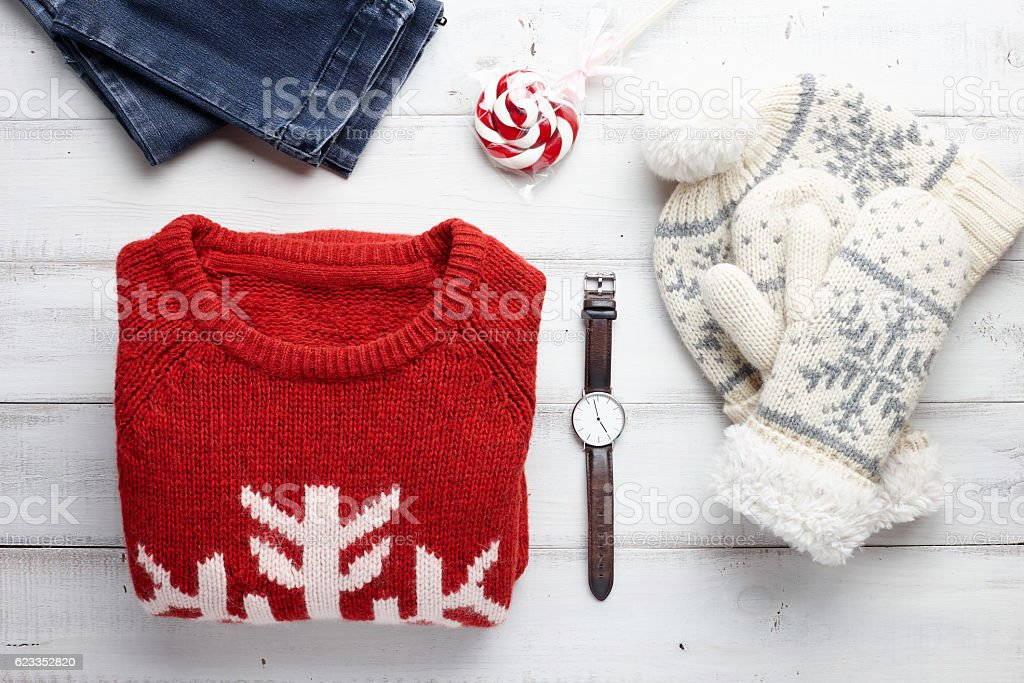 Winter clothing style stock photo