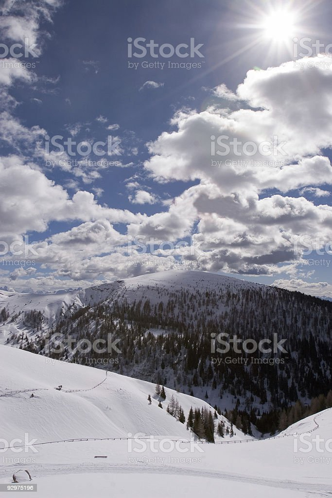 Winter clouds royalty-free stock photo