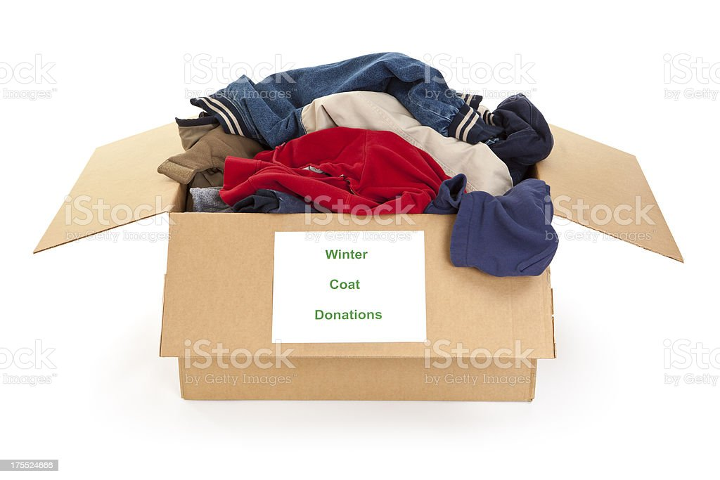 Winter Coat Donations stock photo