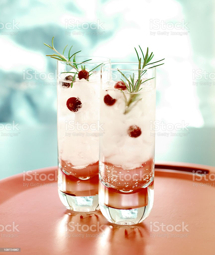 Winter Cocktail stock photo