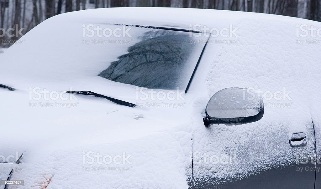 Winter Commute royalty-free stock photo