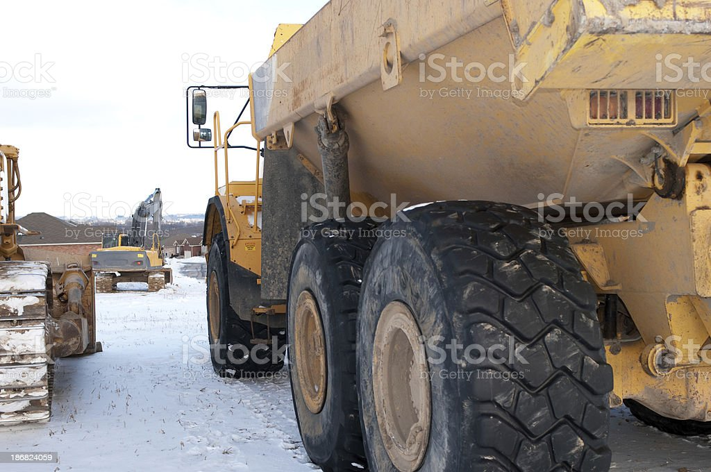 Winter Construction Site stock photo