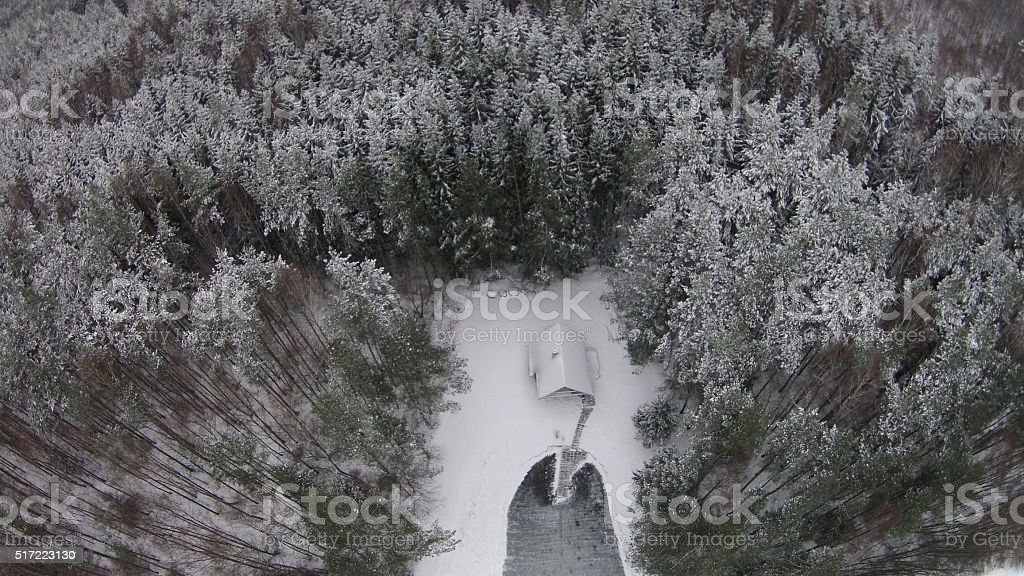Winter country house stock photo