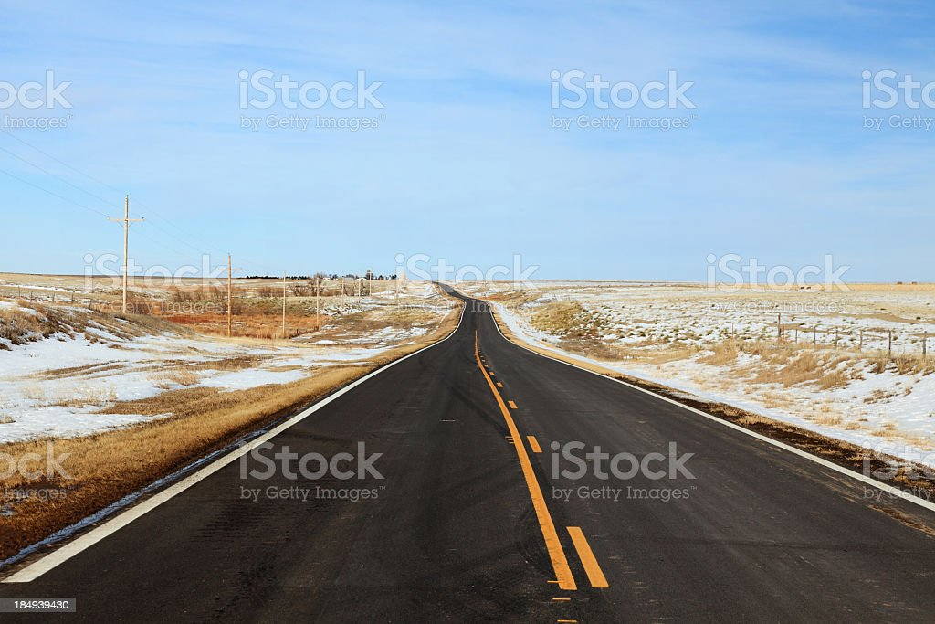 winter country road royalty-free stock photo