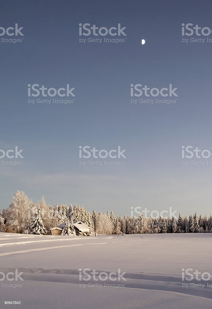 winter countryside royalty-free stock photo