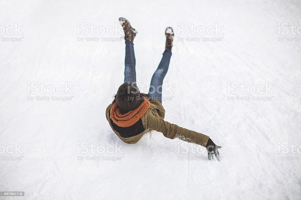 Winter danger stock photo