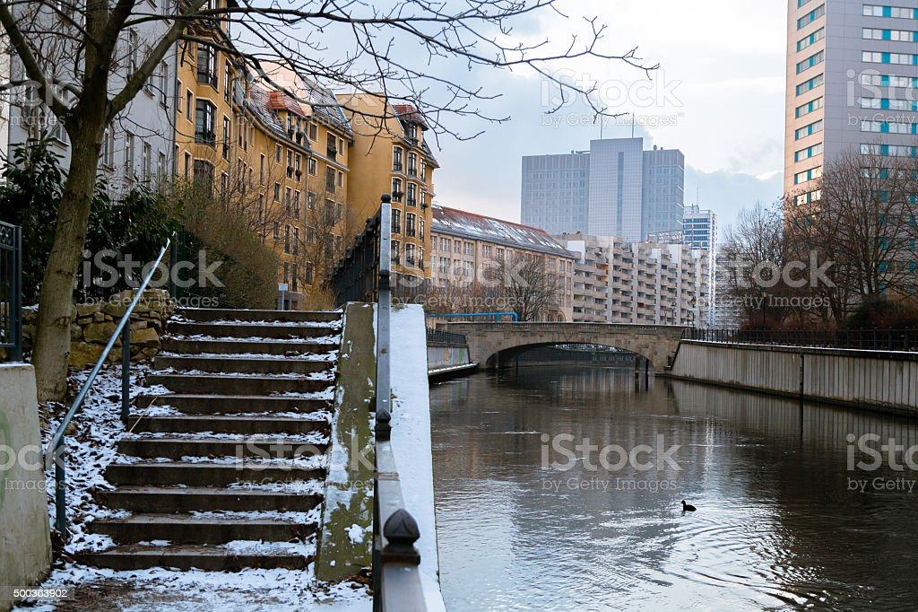 Winter Day in Berlin stock photo