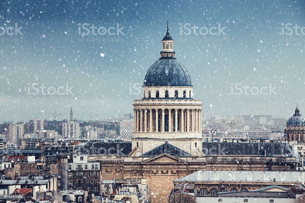 Winter Day In Paris stock photo