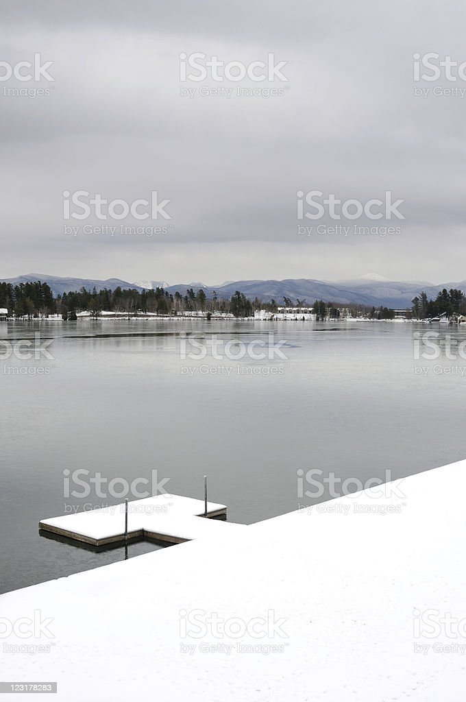 Winter Dock stock photo