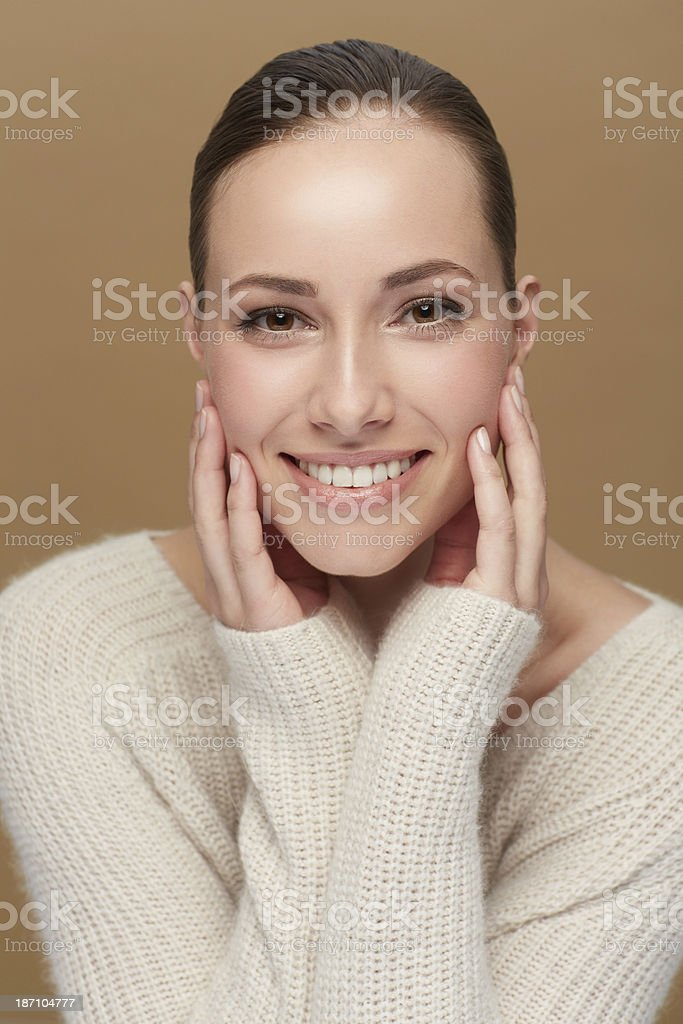 Winter doesn't have to mean dry skin! royalty-free stock photo