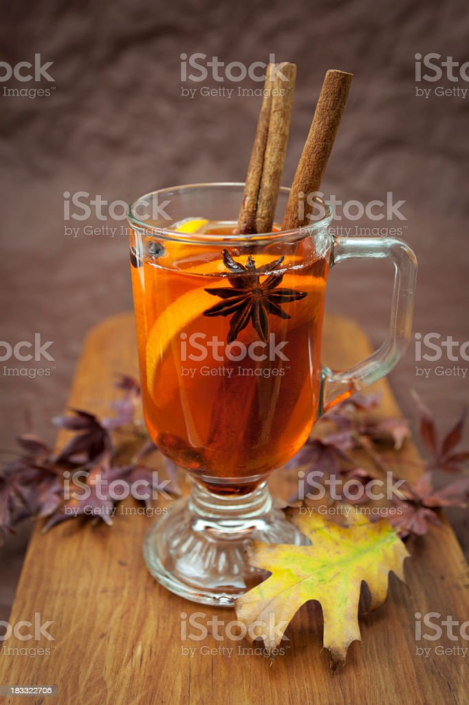 Winter drink stock photo