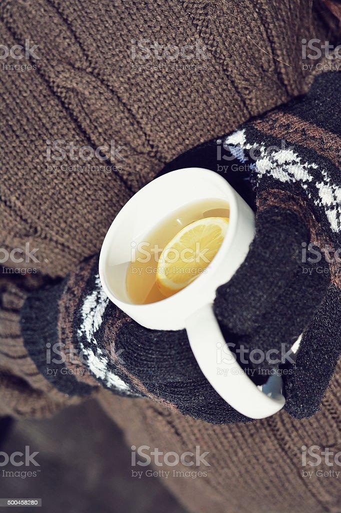 Winter drink stock photo