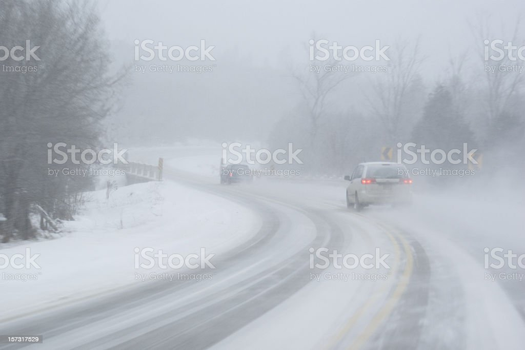 Winter Driving 6 royalty-free stock photo
