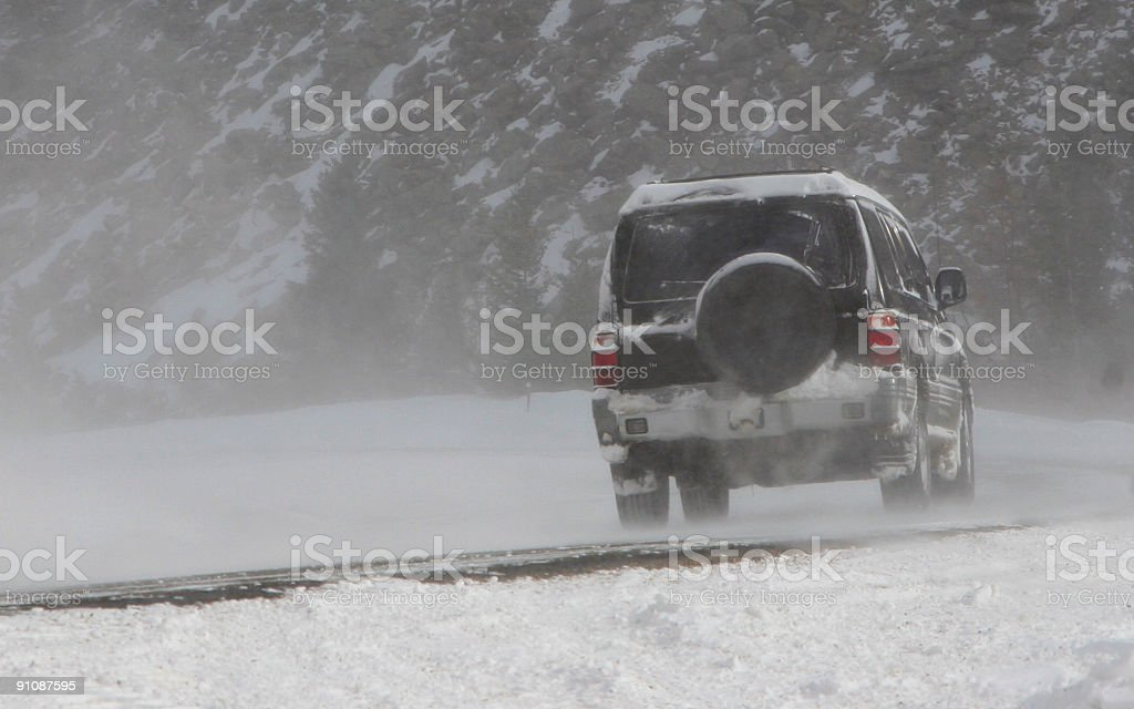 Winter Driving Conditions royalty-free stock photo