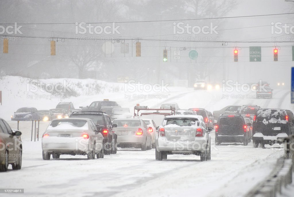 Winter driving mess royalty-free stock photo