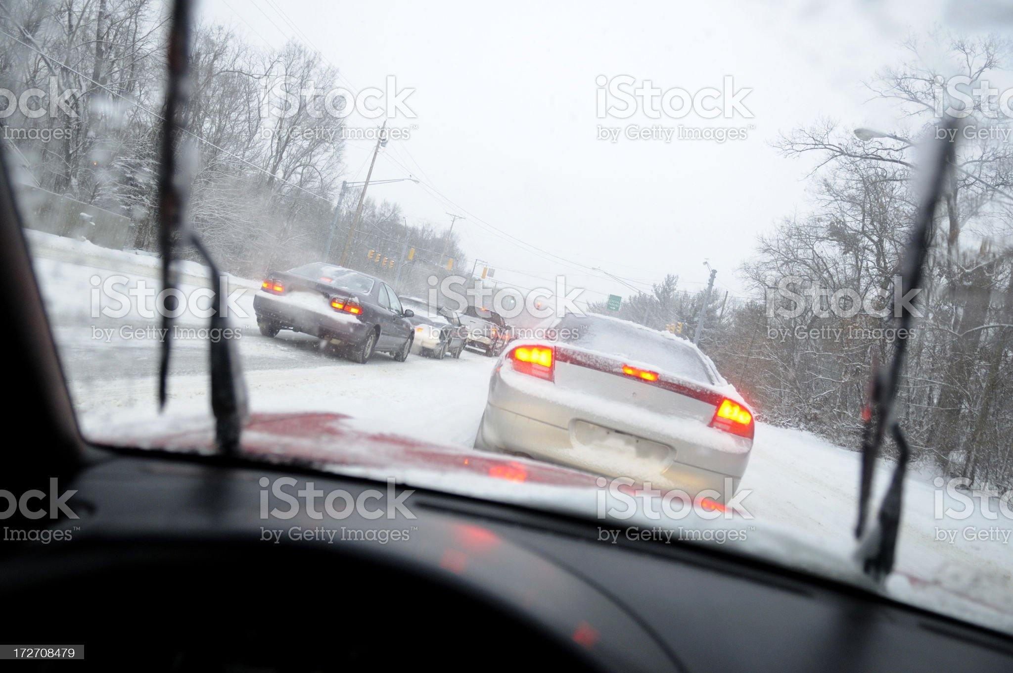 Winter driving. royalty-free stock photo