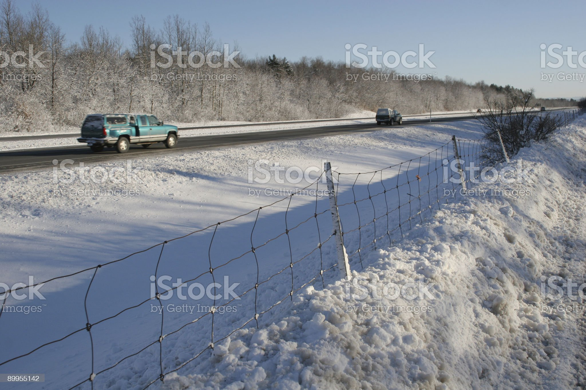 Winter driving royalty-free stock photo